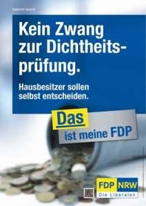 Wahl-Plakat-FDP-Dichtheitspruefung